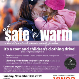 YWCA Safe & Warm Coat and Children's Clothing Drive @ Ramekins Culinary School
